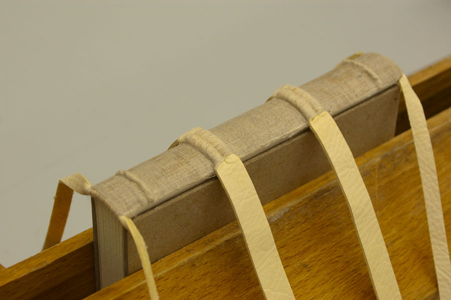 Textile patch spine linings