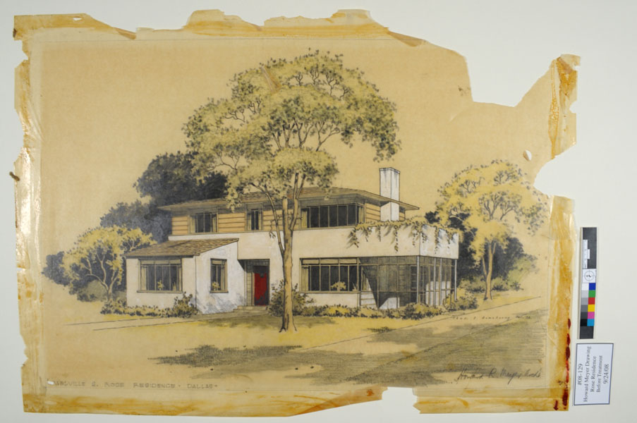 Rose Residence, Howard R. Meyer Architectural Drawing (1938)